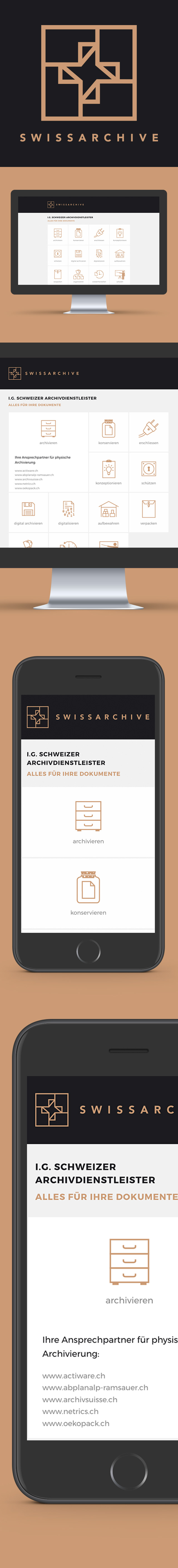 GLUNZ Projekt: Swissachive - Mobile version